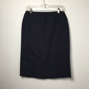 Light Navy Pencil Skirt